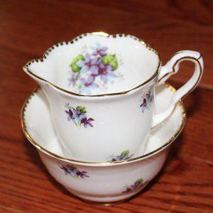Royal Stafford bone china, cream &sugar